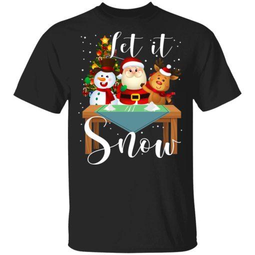 Santa Claus Reindeer Snowman Cocaine Let It Snow T-Shirts, Hoodies, Long Sleeve