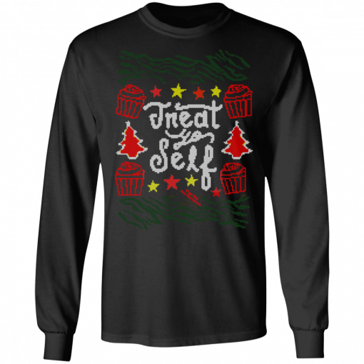 Parks and Recreation Treat Yo Self Ugly Christmas T-Shirts, Hoodies, Long Sleeve