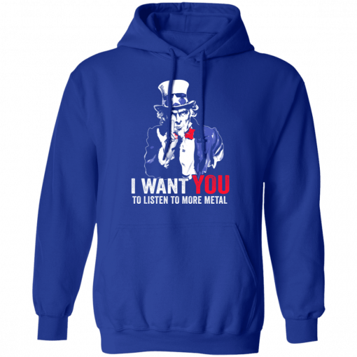 Hatewear Uncle Sam Metal I Want You To Listen To More Metal T-Shirts, Hoodies, Long Sleeve