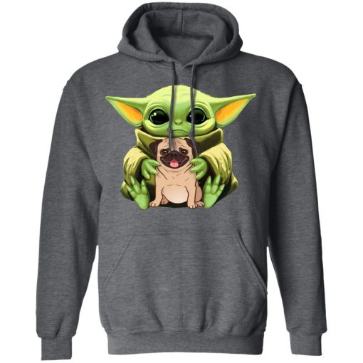 Baby Yoda Hug Pug Dog T-Shirts, Hoodies, Long Sleeve