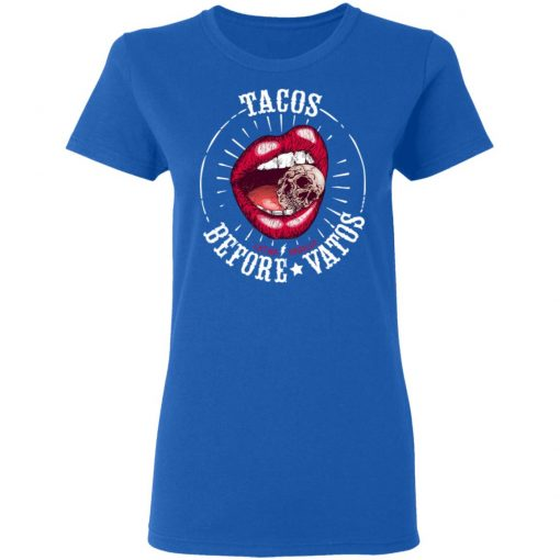 Latina Orgullo Tacos Before Vatos T-Shirts, Hoodies, Long Sleeve