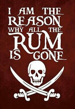 I Am The Reason Why All The Rum Is Gone
