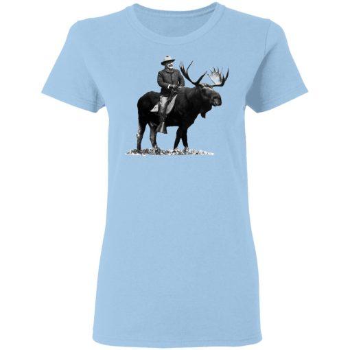 Teddy Roosevelt Riding A Bull Moose T-Shirts, Hoodies, Long Sleeve