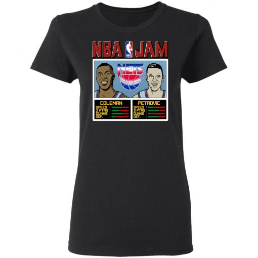 NBA Jam Nets Coleman And Petrovic T-Shirts, Hoodies, Long Sleeve