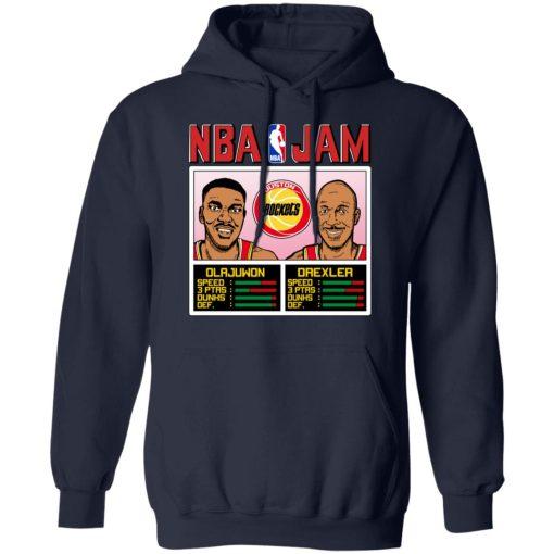 NBA Jam Rockets Olajuwon And Drexler T-Shirts, Hoodies, Long Sleeve