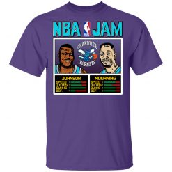 NBA Jam Hornets Johnson And Mourning T-Shirts, Hoodies, Long Sleeve
