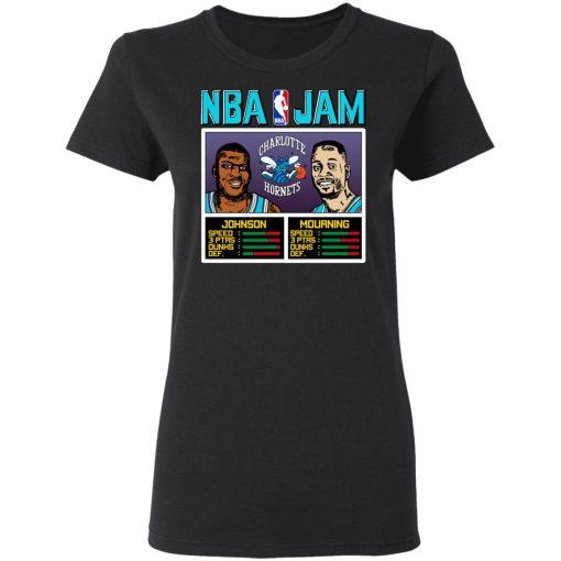 NBA Jam Hornets Johnson And Mourning T-Shirts, Hoodies, Long Sleeve