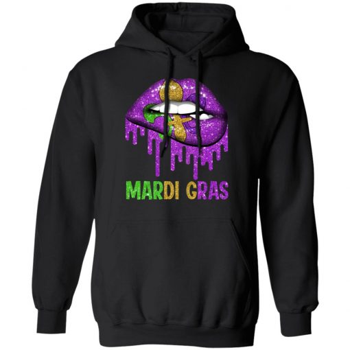 Mardi Gras Lip Biting T-Shirts, Hoodies, Long Sleeve