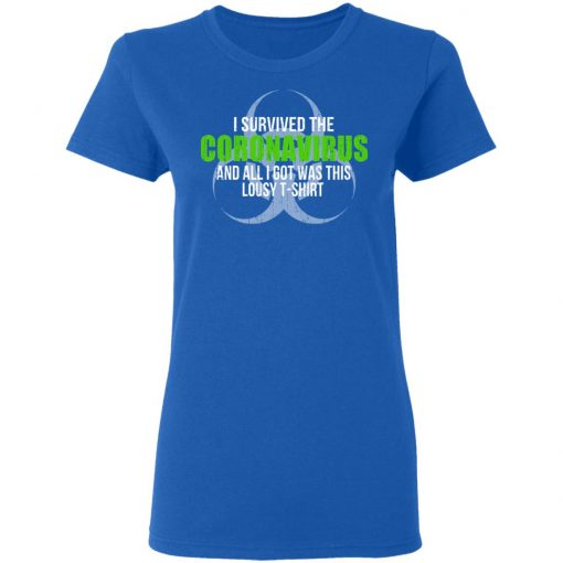 I Survived The Coronavirus And All I Got Was This Loust T-Shirt Humor T-Shirts, Hoodies, Long Sleeve
