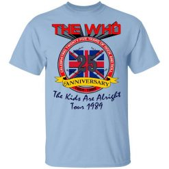 The Who 25 Anniversary The Kids Are Alright Tour 1989 T-Shirts, Hoodies, Long Sleeve