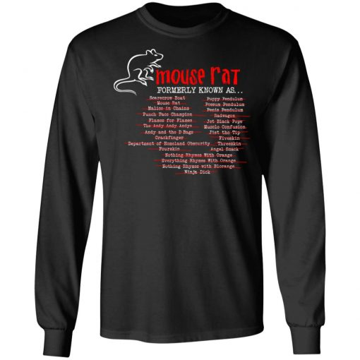 Parks and Recreation Mouse Rat Formerly Known As T-Shirts, Hoodies, Long Sleeve