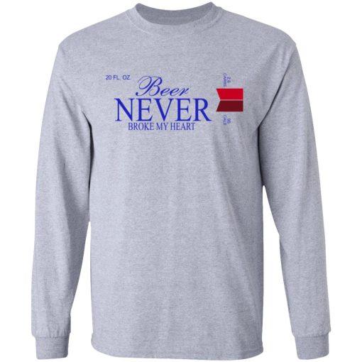Beer Never Broke My Heart Michelob Ultra T-Shirts, Hoodies, Long Sleeve