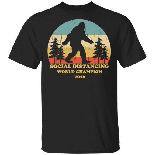 Bigfoot Social Distancing World Champion 2020 T-Shirts, Hoodies, Long Sleeve