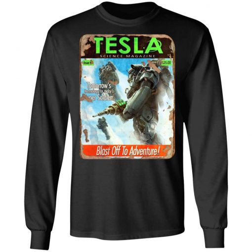 Tesla Science Magazine Blast Off To Adventure T-Shirts, Hoodies, Long Sleeve