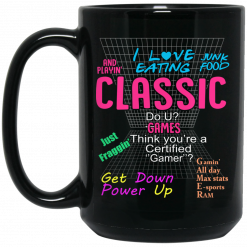 I Love Eating Classic Do U Games Mug