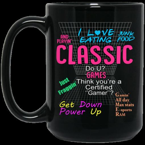 I Love Eating Classic Do U Games Mug