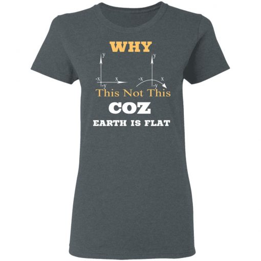 Why This Not This Coz Earth Is Flat T-Shirts, Hoodies, Long Sleeve