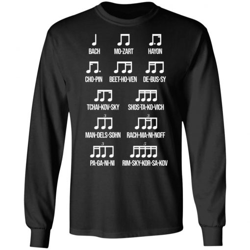 Composer Rhythm Music Gift Bach Mozart Beethoven Chopin Camiseta T-Shirts, Hoodies, Long Sleeve