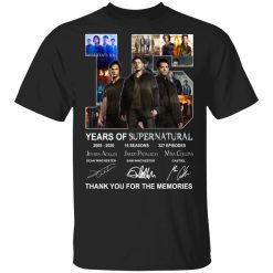 15 Years Of Supernatural Thank You For My Memories T-Shirts, Hoodies, Long Sleeve