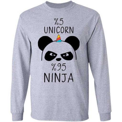 Pandacorn 5% Unicorn 95% Ninja T-Shirts, Hoodies, Long Sleeve