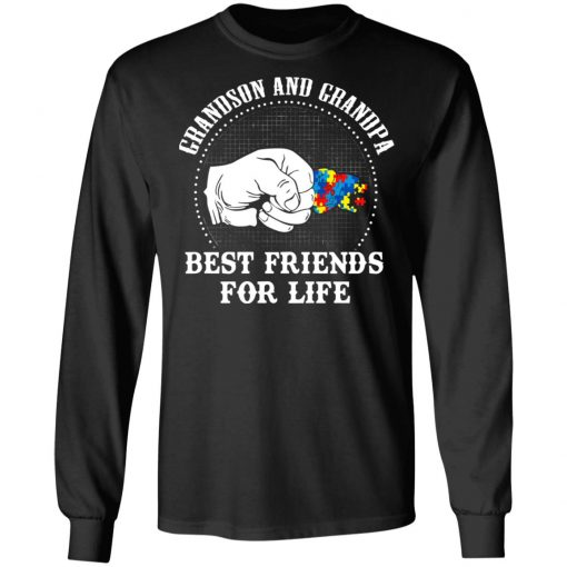 Autism Grandson And Grandpa Best Friends For Life Autism Awareness T-Shirts, Hoodies, Long Sleeve