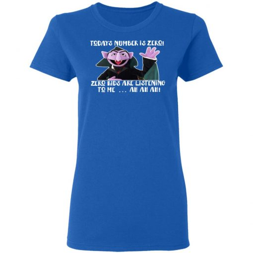 Count von Count – Today's Number is Zero Zero Kids Are Listening To Me T-Shirts, Hoodies, Long Sleeve