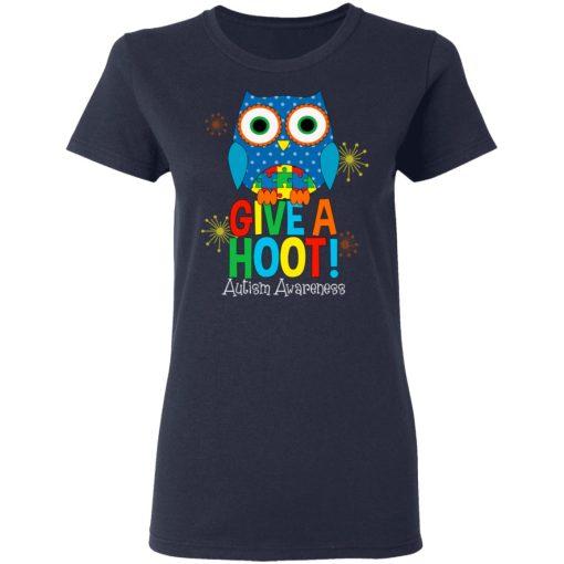 Autism Awareness Give A Hoot T-Shirts, Hoodies, Long Sleeve
