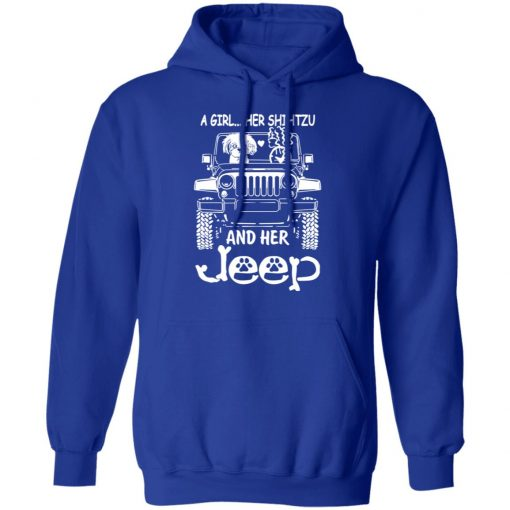A Girl Her Shih Tzu And Her Jeep T-Shirts, Hoodies, Long Sleeve