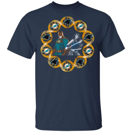 Miami Dolphins And Carolina Panthers In My DNA Batman Superwoman T-Shirts, Hoodies, Long Sleeve