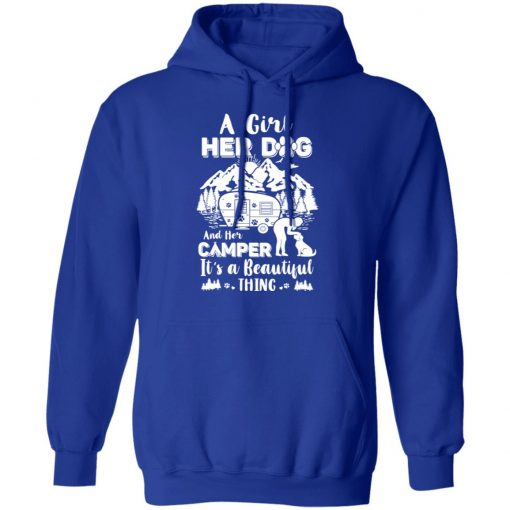 A Girl Her Dog And Her Camper It's A Beautiful Thing T-Shirts, Hoodies, Long Sleeve
