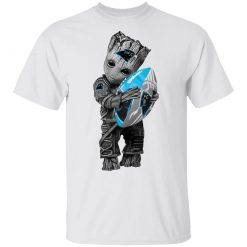 Baby Groot Hugging Carolina Panthers T-Shirts, Hoodies, Long Sleeve