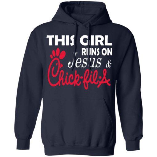 This Girl Runs On Jesus & Chick-fil-A T-Shirts, Hoodies, Long Sleeve