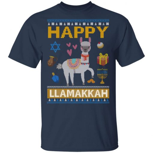 Happy Llama Llamakkah Hanukkah T-Shirts, Hoodies, Long Sleeve