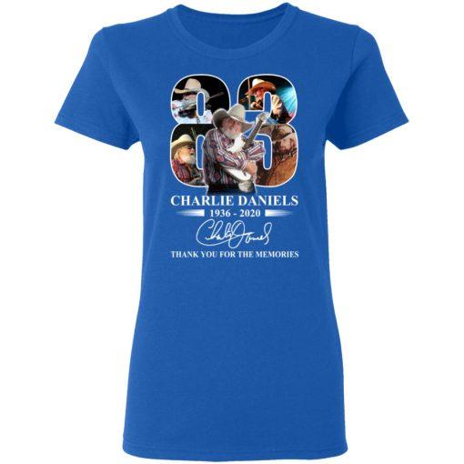 Remembering Charlie Daniels 1936 2020 T-Shirts, Hoodies, Long Sleeve