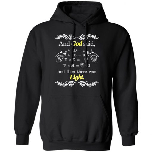 God Said Maxwell Equations Christian Physics Nerd T-Shirts, Hoodies, Long Sleeve
