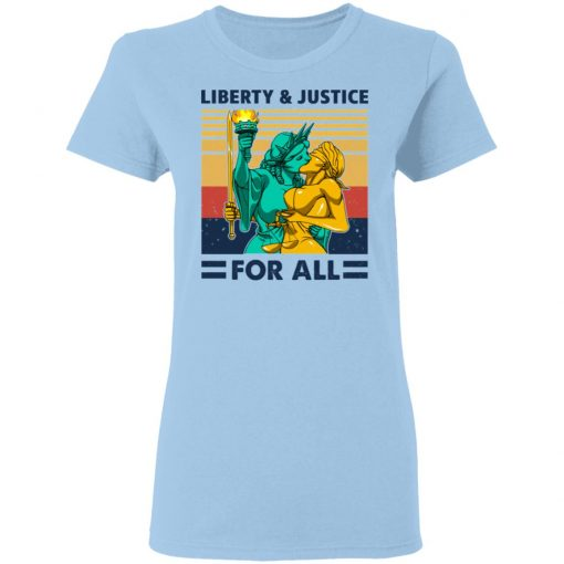 Liberty & Justice For All Vintage T-Shirts, Hoodies, Long Sleeve