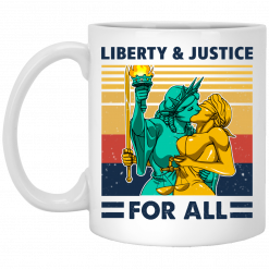 Liberty & Justice For All Vintage Mug