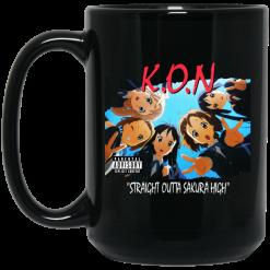 K.O.N Straight Outta Sakura High Black Mug
