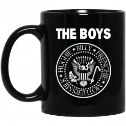 The Boys Hughie Billy Frenchie Mother's Milk Black Mug