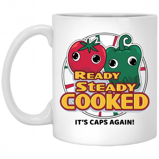 Ready Steady Cooked It's Caps Again White Mug