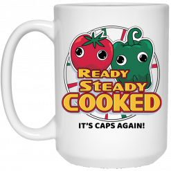 Ready Steady Cooked It's Caps Again White Mug