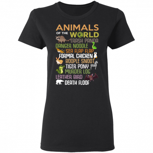 Animals Of The World Funny Animals T-Shirts, Hoodies