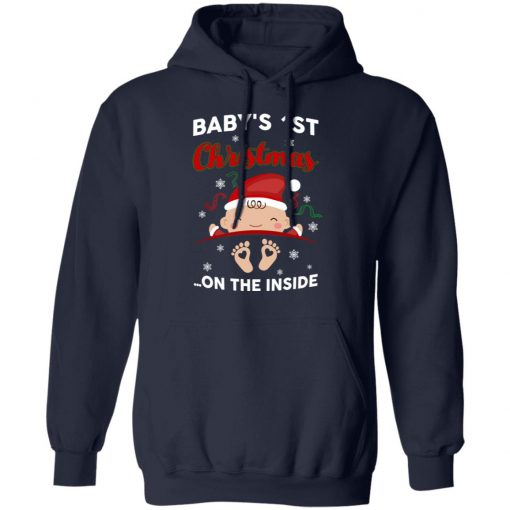 Baby's 1St Christmas On The Inside T-Shirts, Hoodies