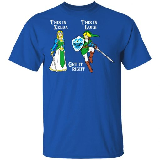 This Is Zelda This Is Luigi Get It Right T-Shirts, Hoodies, Long Sleeve