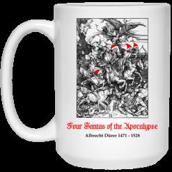 Four Santas Of The Apocalypse Albrecht Dürer 1471 1528 Mug