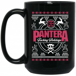 Pantera Fucking Holidays Christmas Mug