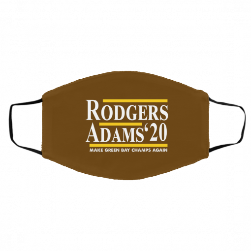 Rodgers Adams 2020 Make Green Bay Champs Again Face Mask