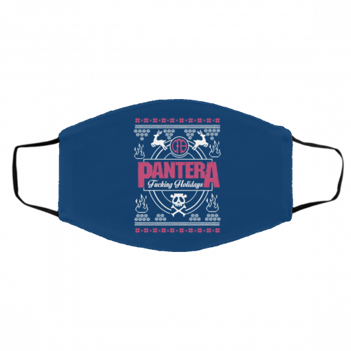 Pantera Fucking Holidays Christmas Face Mask