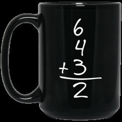 Funny Baseball Gift 6+4+3=2 Baseball Double Play Mug