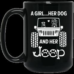 A Girl Her Dog And Her Jeep Mug